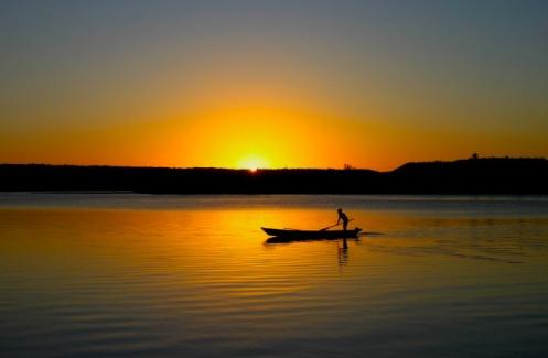 Por do sol na Lagoa Mundaú - Foto site falando em viagens
