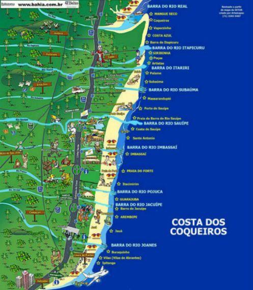 Mapa Costa dos Coqueiros