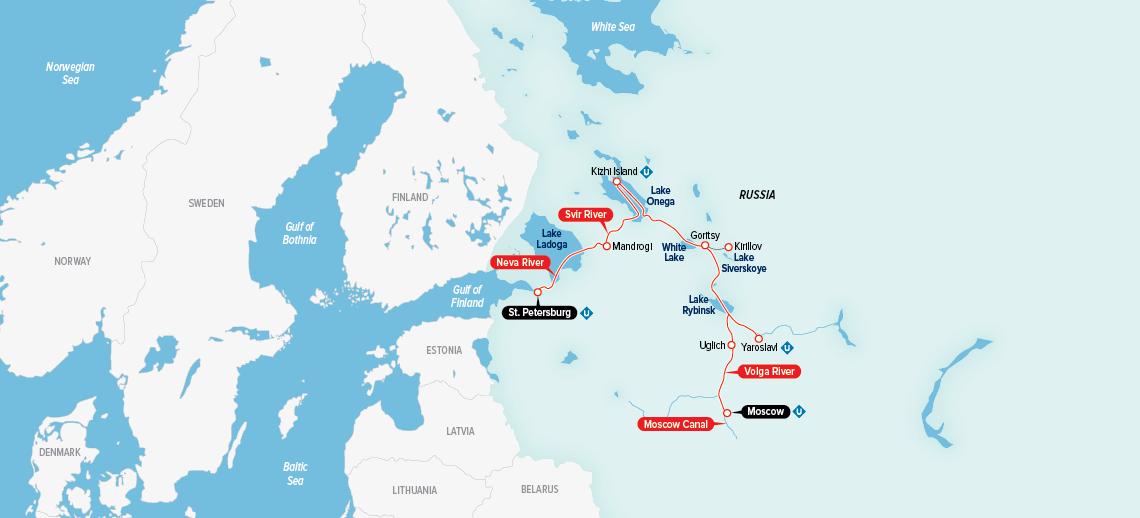 Mapa do cruzeiro