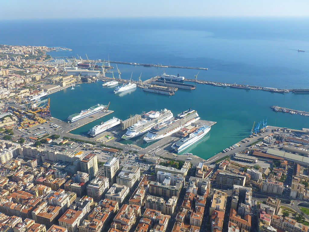 Porto de Palermo visto do alto - Sicília - Itália - Foto Wikimedia