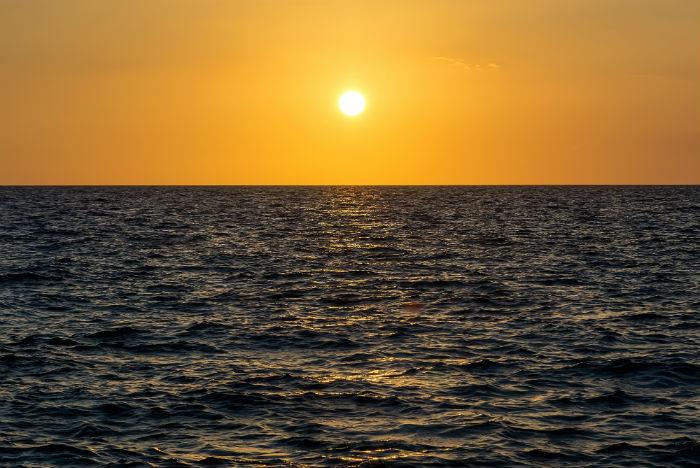Pôr do sol nas Bahamas