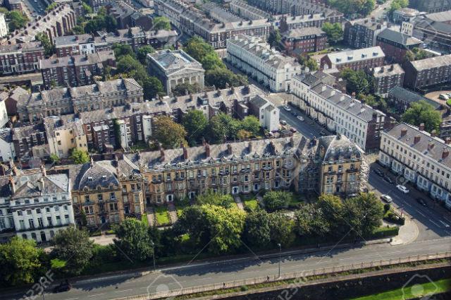 Vista aérea de Liverpool - Reino Unido - Zona Residencial
