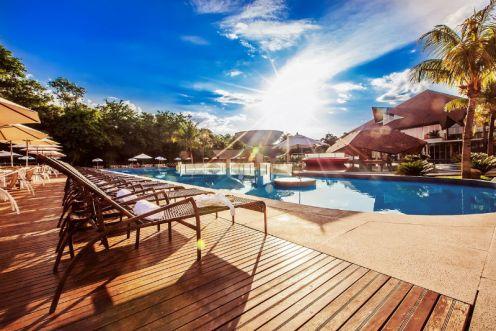 Piscinas de águas Termais no Recanto Cataratas Resort