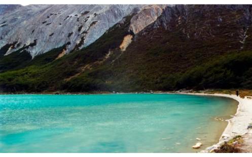 O trekking percorre 9,4 km na Laguna Esmeralda