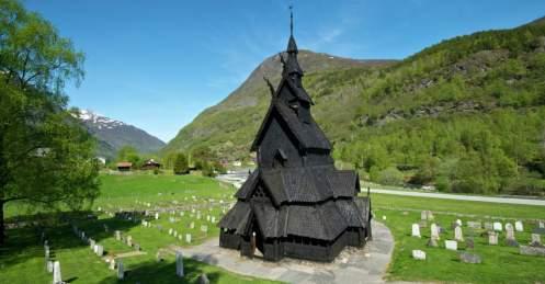 Igreja de madeira viking Foto Visit Noruea